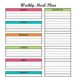Meal planning is a great way to cut your grocery bill. This free meal planning template includes a grocery list too! Create your breakfast, lunch, and dinner menus with this printable!