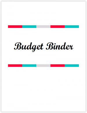 Budget Binder Cover