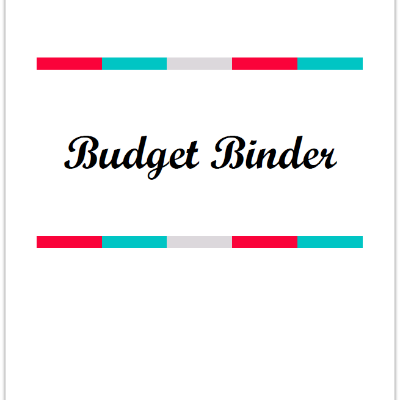 Budget Binder Cover